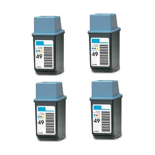 4PK Compatible HP 51649 (HP 49) Ink Cartridge For HP DeskJet 690C 694C 695C 697C ( Pack of 4 )