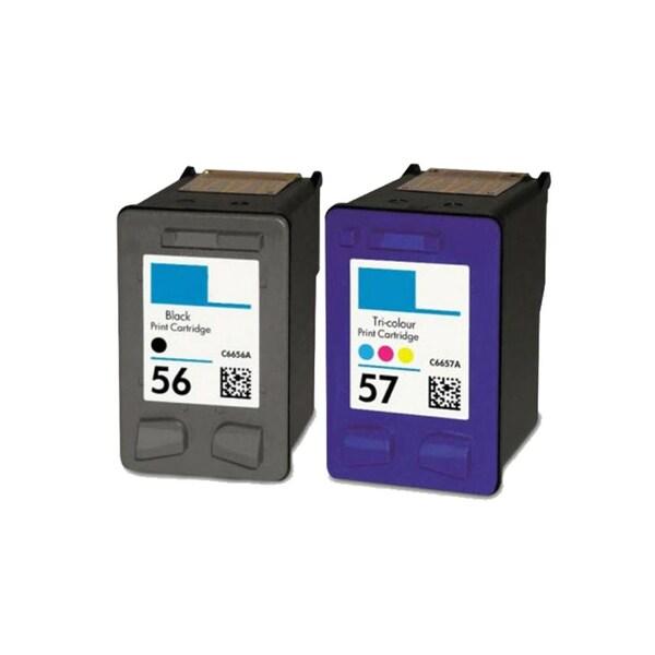 2PK Compatible HP C6656 (HP 56) HP C6657 (HP 57) Ink Cartridge For HP Deskjet 3550 Officejet 4110 ( Pack of 2 ). Opens flyout.
