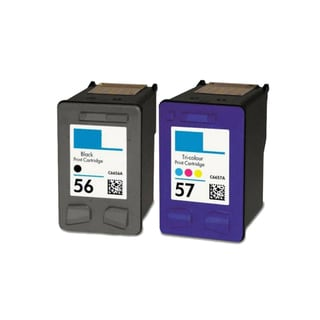 2PK Compatible HP C6656 (HP 56) HP C6657 (HP 57) Ink Cartridge For HP Deskjet 3550 Officejet 4110 ( Pack of 2 )