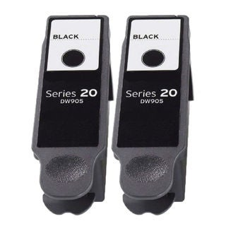 2PK Compatible DW905 Black (Series 20) Ink Cartridge For Dell P703w ( Pack of 2 )