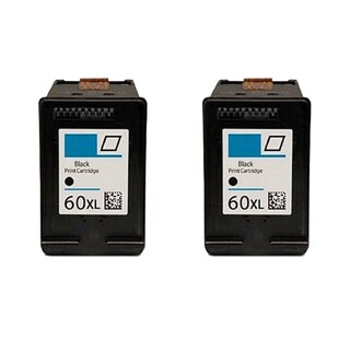 2PK Compatible CC641WN (HP 60XL) Ink Cartridge For HP Deskjet D1660 D2500 D2530 ( Pack of 2 )