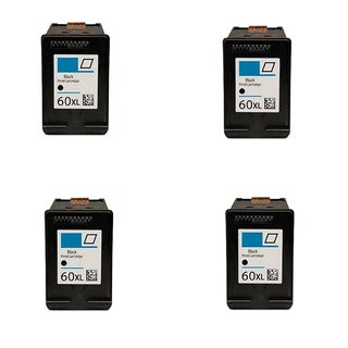 4PK Compatible CC641WN (HP 60XL) Ink Cartridge For HP Deskjet D1660 D2500 D2530 ( Pack of 4 )