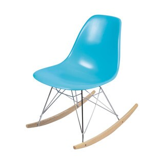 Joseph Allen Eames Style Caribbean Blue Rocking Chair
