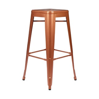 Metal Tolix Style 30-inch Copper Finish Bar Stool