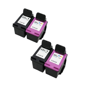 4PK Compatible CC641WN (HP 60XL) CC644WN (HP 60XL) Ink Cartridge For HP Deskjet D1660 D2500 D2530 ( Pack of 4 )