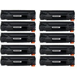 10PK Compatible CE285A Black Toner Cartridge For HP LaserJet P1102 M1212nf MFP (Pack of 10)