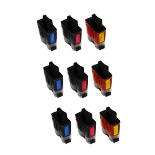9PK Compatible 3 LC41C 3 LC41M 3 LC41Y Ink Cartridge For Brother FAX1840C 1940CN 2440C ( Pack of 9 )