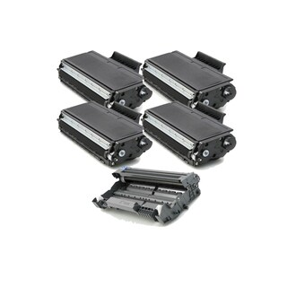 5 Pack Compatible 4 x TN580 Toner Cartridge DR520 Drum Cartridge For Brother DCP-8060 DCP-8065 HL-5240 ( Pack of 5 )