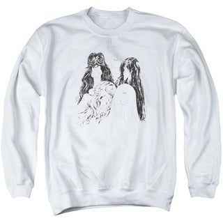 Aerosmith/Draw The Line Adult Crew Sweat in White