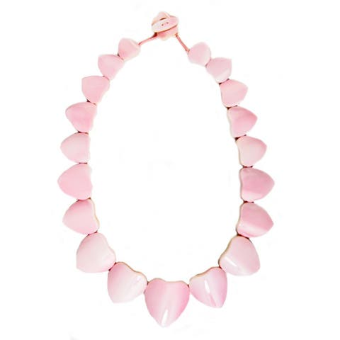 Pearl Lustre Conche Shell Necklace - Pink