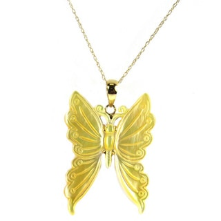 Pearl Lustre Butterfly Mother of Pearl Pendant