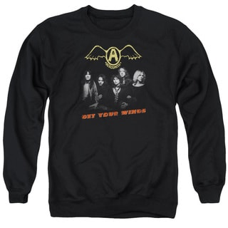Aerosmith/Get Your Wings Adult Crew Sweat in Black