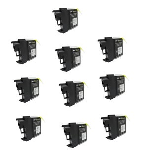 10PK Compatible LC61 BK Ink Cartridge For Brother DCP-165c MFCAN-290C ( Pack of 10 )