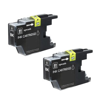 2PK Compatible LC75 BK Ink Cartridge For Brother DWMFCAN-J6910 ( Pack of 2 )