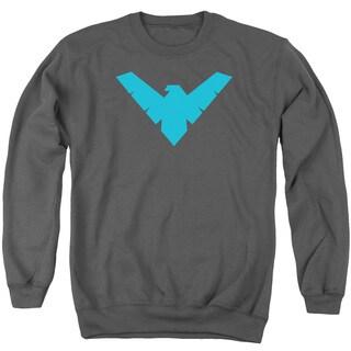 Batman/Nightwing Symbol Adult Crew Sweat in Charcoal