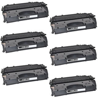 6PK Compatible CF280A Black Toner Cartridge For HP LaserJet Pro 400 Series HP LaserJet 400 M401 (Pack of 6)
