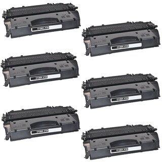 6PK Compatible CF280A Black Toner Cartridge For HP LaserJet Pro 400 Series HP LaserJet 400 M401 (Pack of 6)
