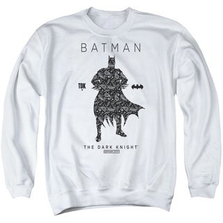 Batman/Paislety Silhouette Adult Crew Sweat in White