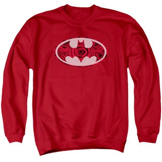 Batman/Rosey Signal Adult Crew Sweat in Red
