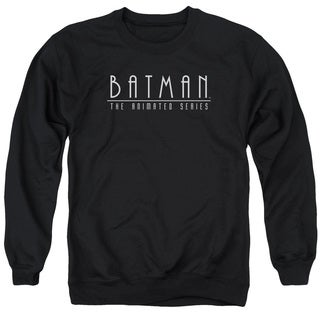 Batman The Animated Series/Logo Adult Crew Sweat in Black