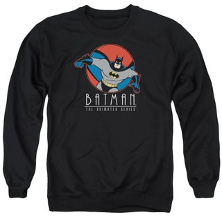 Batman The Animated Series/Punch Out Adult Crew Sweat in Black