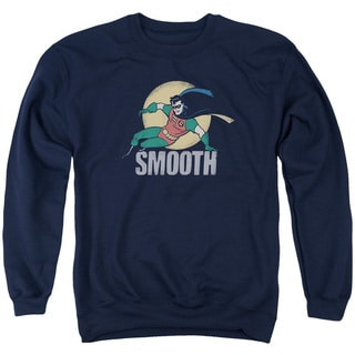 Batman The Animated Series/Smooth Adult Crew Sweat in Navy