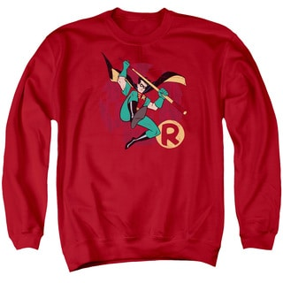 Batman The Animated Series/Robin Leap Adult Crew Sweat in Red