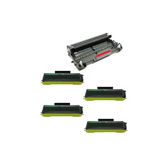 5 Pack Compatible 4 x TN650 Toner Cartridge DR620 Drum Cartridge For Brother DCP-8080 DCP-8085 ( Pack of 5 )