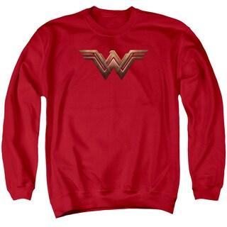Batman V Superman/Ww Shield Adult Crew Sweat in Red