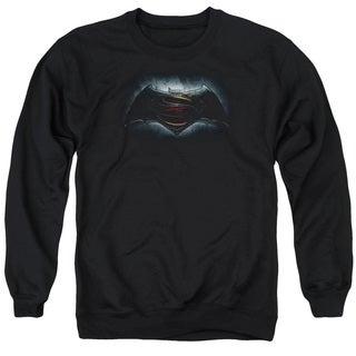 Batman V Superman/Logo Adult Crew Sweat in Black