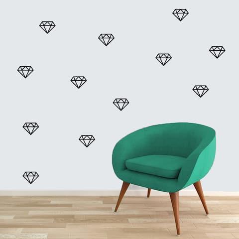 Set of Diamonds Small Vinyl Wall Decals
