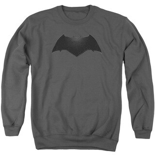 Batman V Superman/Beveled Bat Logo Adult Crew Sweat in Charcoal