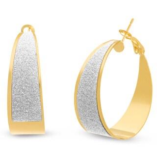 Shimmering Gold Asymmetric Hoop Earrings