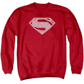 Batman V Superman/Techy S Adult Crew Sweat in Red