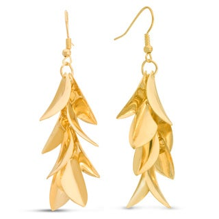 Gold Leaf 2-inch Dangle Earrings