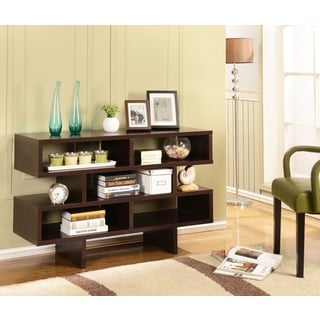 K and B Furniture Co Inc E907 Espresso Wood TV Stand/Bookcase