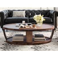 Aurelle Home American Walnut Craftsman Coffee Table