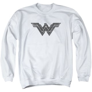 Batman V Superman/Folded and Distressed Adult Crew Sweat in White