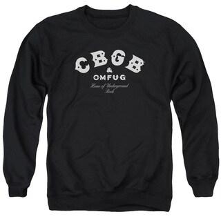 Cbgb/Classic Logo Adult Crew Sweat in Black