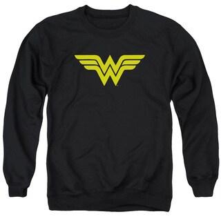 DC/Wonder Woman Logo Adult Crew Sweat in Black