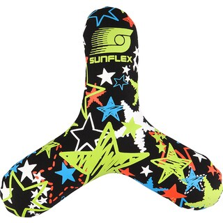 Sunflex Multicolor Neoprene Triangle Glow Flying Disc
