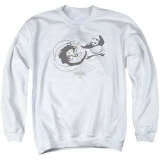 Kung Fu Panda/Face Off Adult Crew Sweat in White