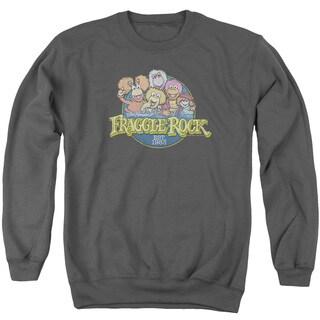 Fraggle Rock/Circle Logo Adult Crew Sweat in Charcoal