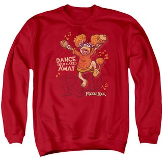 Fraggle Rock/Dance Adult Crew Sweat in Red