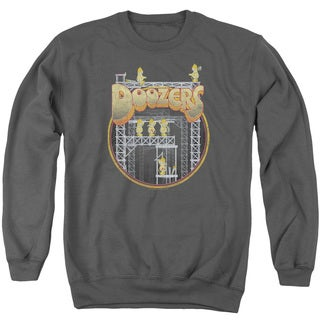 Fraggle Rock/Doozers Construction Adult Crew Sweat in Charcoal