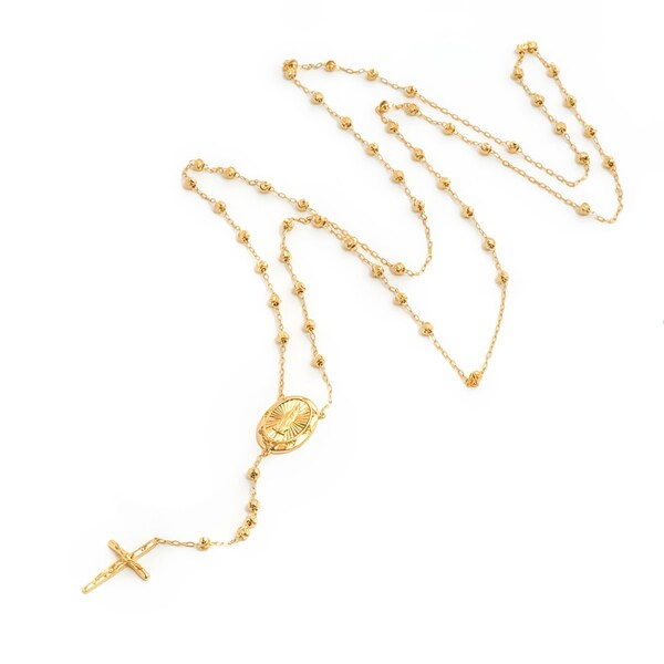 Pori 18k Gold-plated Sterling Silver Beaded Rosary Necklace