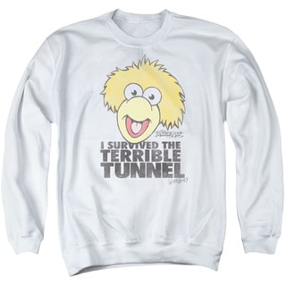 Fraggle Rock/Terrible Tunnel Adult Crew Sweat in White