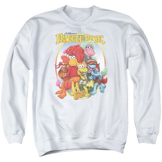 Fraggle Rock/Group Hug Adult Crew Sweat in White