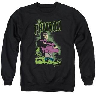 Phantom/Jungle Protector Adult Crew Sweat in Black