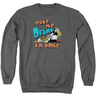 Hagar The Horrible/Take Me Home Adult Crew Sweat in Charcoal